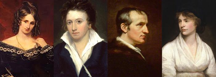 Charcaters Mary Shelley, Percy Shelley, William Godwin, Mary Wollstonecraft