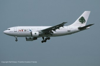 3B-STJ MEA Middle East Airlines Airbus A310-222 (MSN 350)