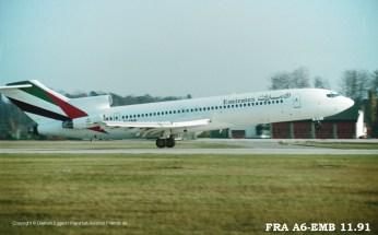 A6-EMB Emirates Boeing 727-264 (sn 22982 / ln 1802)