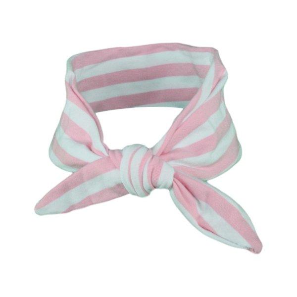 Light Pink & White Stripey