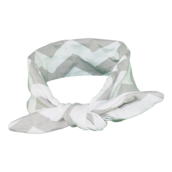Grey & White Chevvy Baby/Toddler Hair Wrap