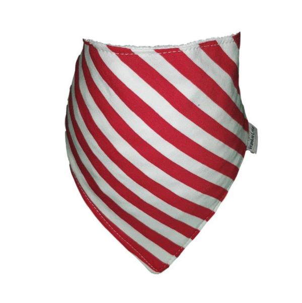 Red & White Stripey Bib