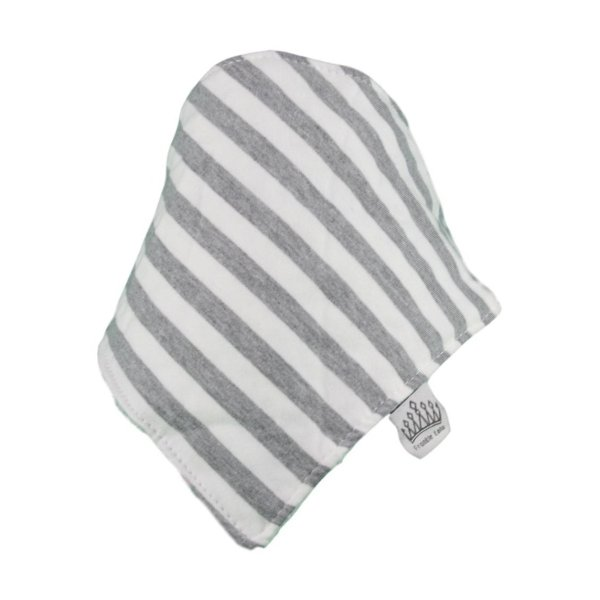Grey & White Stripey Bib