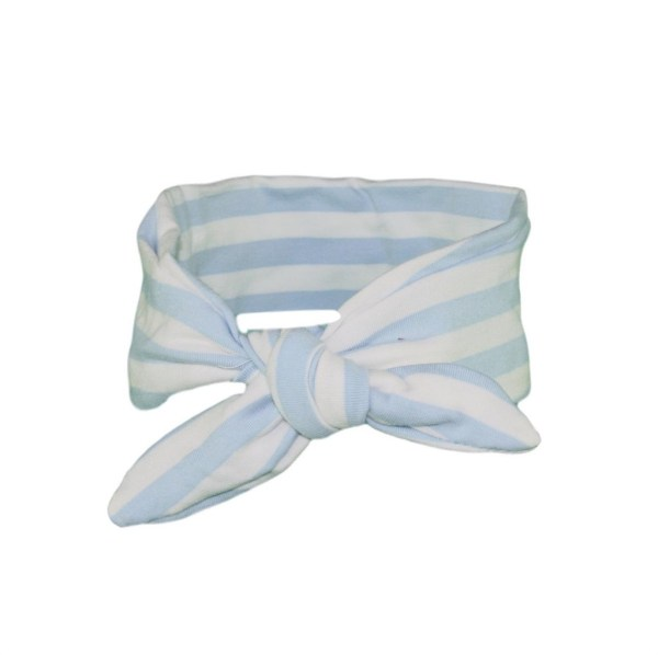 Baby Blue & White Stripey hair wrap