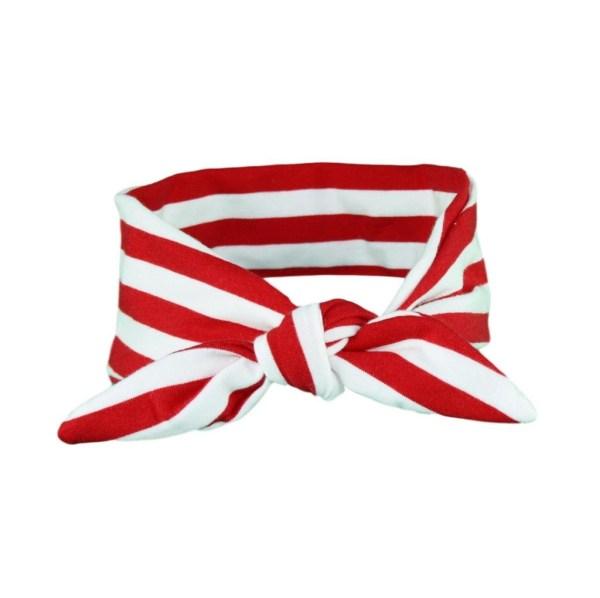 Red & White stripey hair wrap