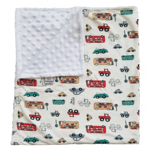 London bus baby blanket