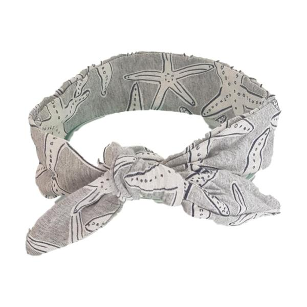 Grey Starfish Hair Wrap