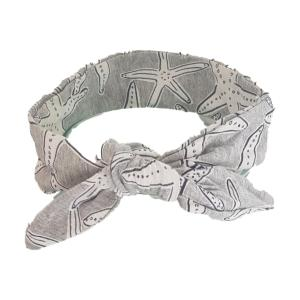 Grey Starfish Hair Wrap