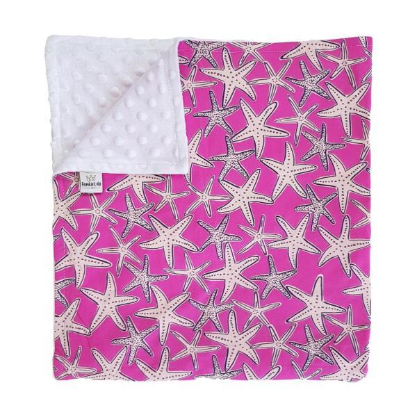 Pink Starfish Baby Blanket