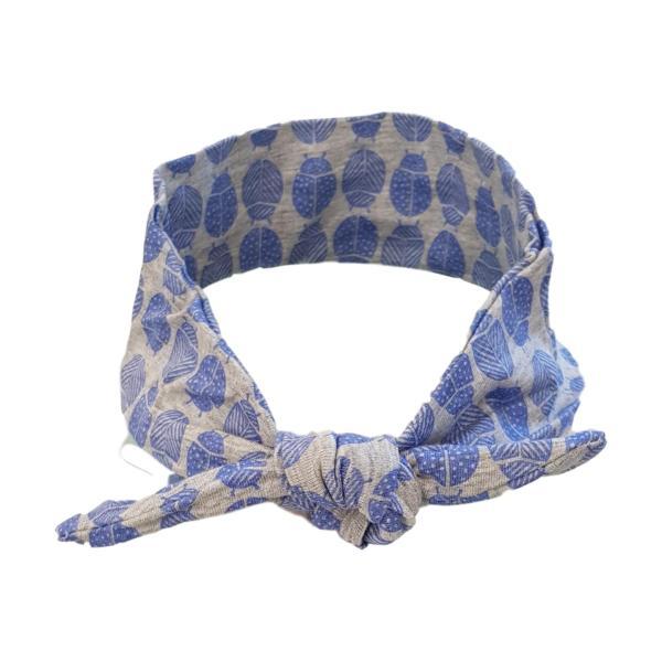 Blue Lady Bug Hair Wrap
