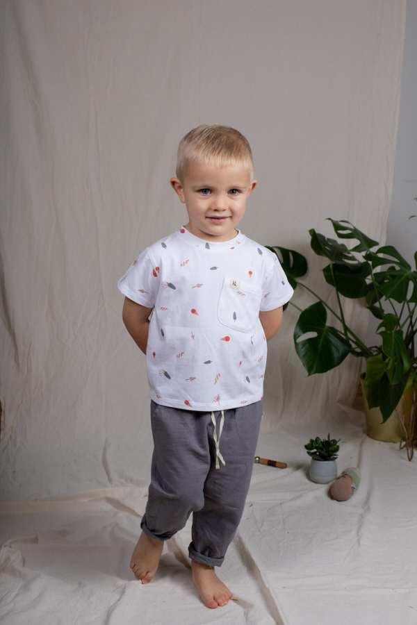 Tragebild: T-Shirt aus Bio-Jersey für Kinder