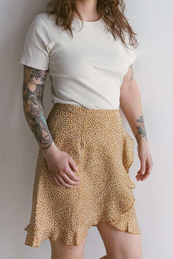 Tencel Rock mít floralem Print für Frauen