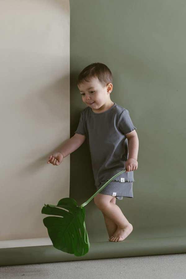 Shorts aus Rib Jersey für Kinder