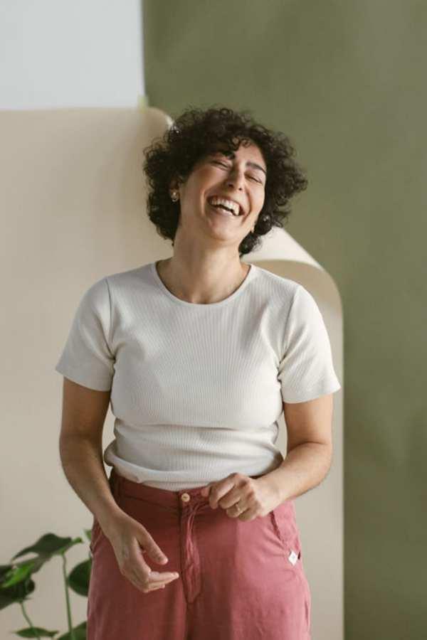 T-Shirt aus Bio-Rib Jersey für Frauen