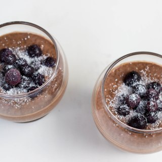 Chocolate Chia Pudding {Dairy Free, Gluten Free, Raw, Vegan}