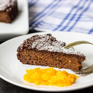 Nigella's Flourless Chocolate Orange Cake {Dairy Free, Egg Free, Gluten Free, Vegan}