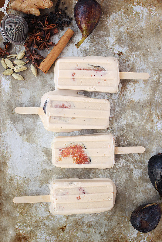 Chai Coconut Fig popsicles