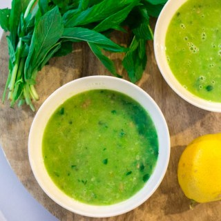 Thermomix Green Pea and Mint Soup