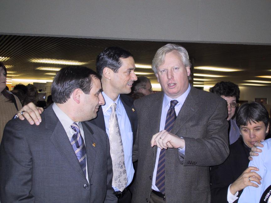 Enzo & Frank with Mayor of Toronto, David Miller