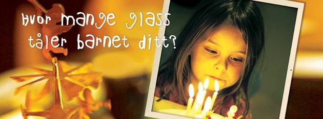 Hvor mange glass tåler barnet ditt? Kampanje kjørt på Jevnaker kommunes Facebook-side.