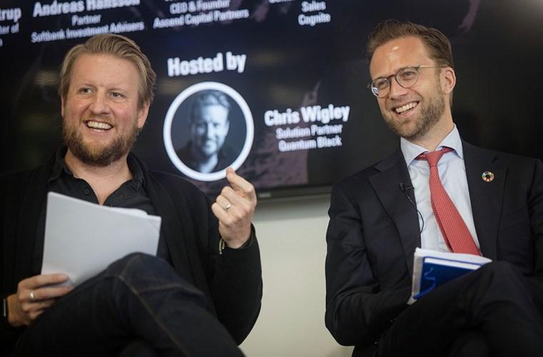Chris Wigley og Nikolai Astrup