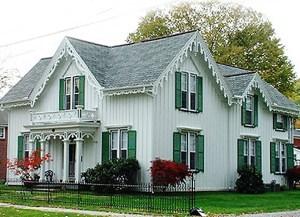 Carpenter Gothic style home on Elk St.