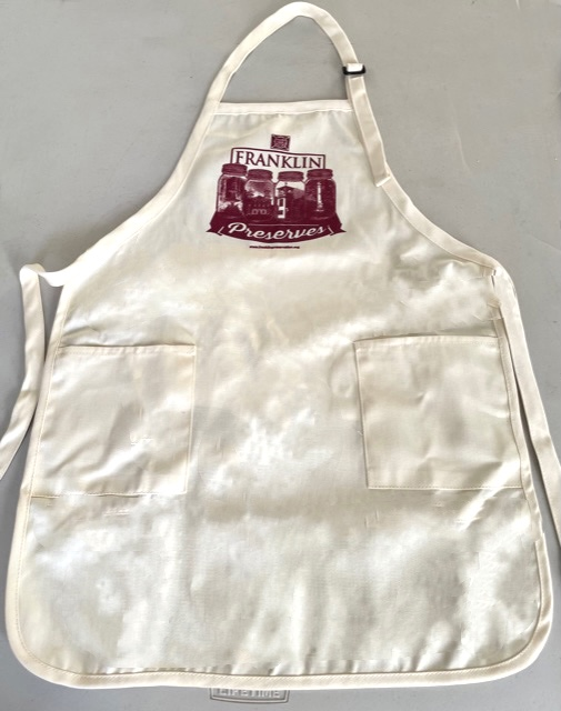 'Franklin Preserves' Apron with two patch pockets