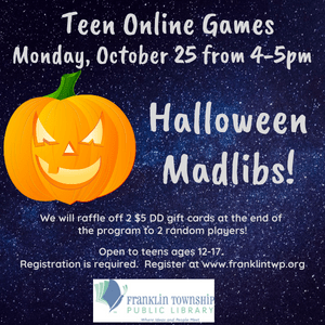Teen Halloween Madlibs!
