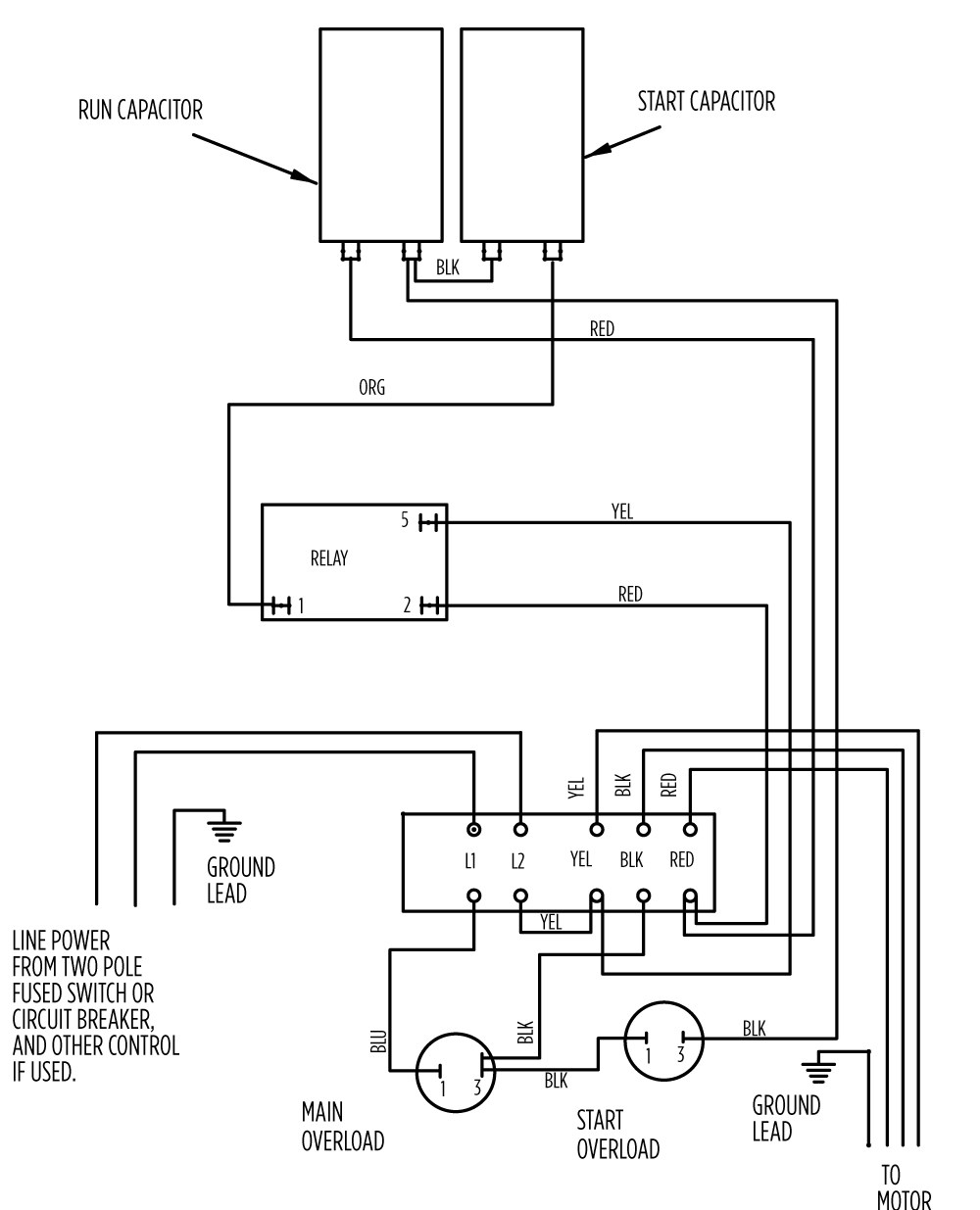 220 Volt Single Phase Motor Wiring Diagram For 240 1 Switch