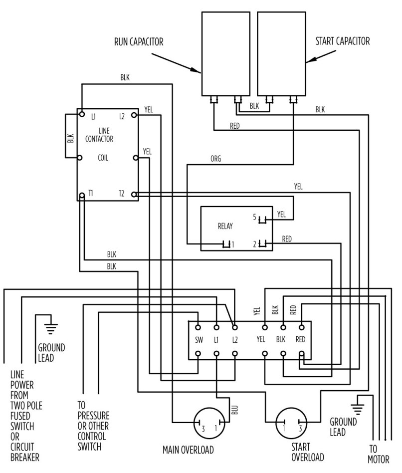 2 pole ac motor diagram wiring schematic library