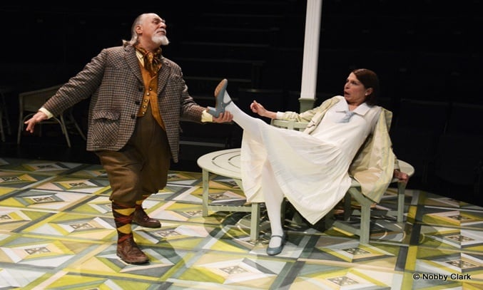Barry Rutter and Becky Hindley in THE MERRY WIVES. Image: Nobby Clark ©