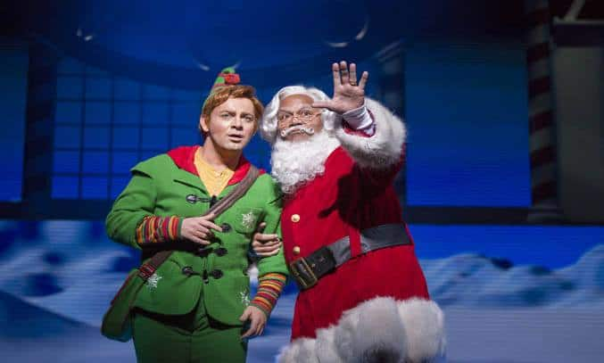 Buddy (Ben Forster) & Santa (Louis Emerick) in ELF: THE MUSICAL