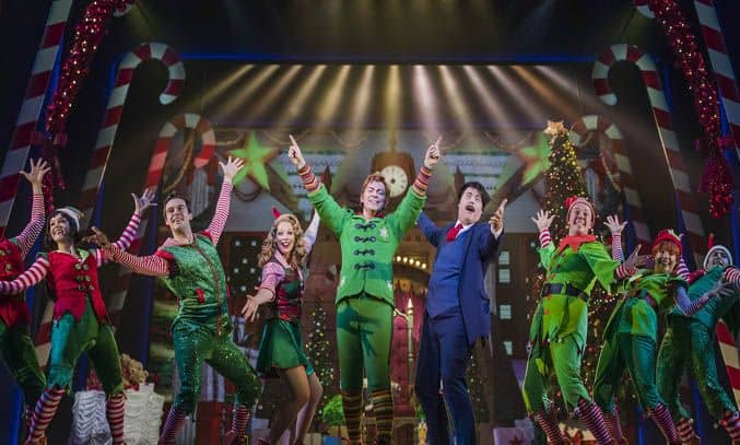 The cast of ELF THE MUSICAL UK Tour
