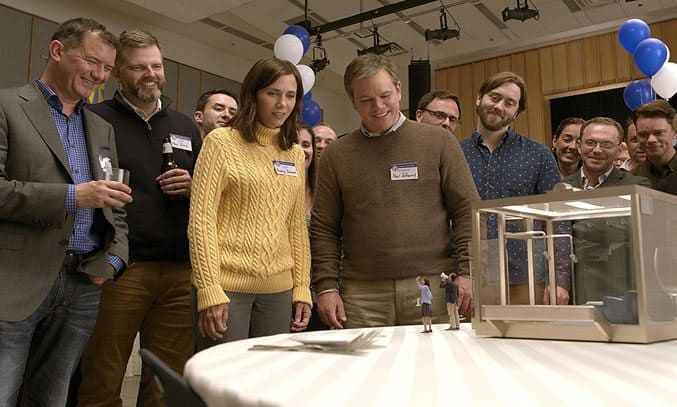 Matt Damon, Jason Sudeikis, Maribeth Monroe, and Kristen Wiig in Downsizing (2017)