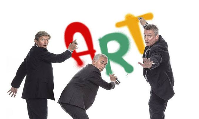 Nigel Havers, Denis Lawson and Stephen Tompkinson in ART