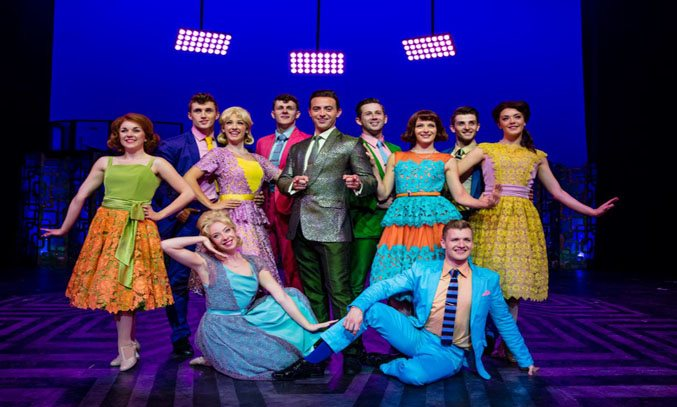 The cast of HAIRSPRAY UK Tour. Photo Credit: Darren Bell