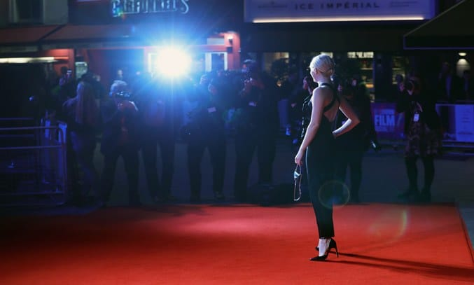 Actress Emma Stone on the red carpet at the 61st BFI London Film Festival.