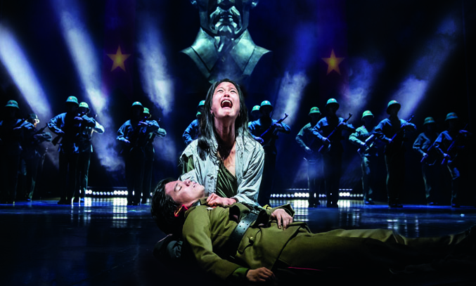 Sooha Kim and Gerald Santos in MISS SAIGON