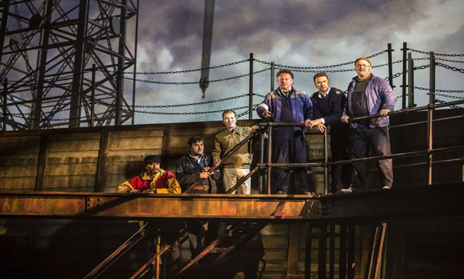 Marvin Ford, Michael Blair, Matt Corner, Joe Caffrey and Richard Fleeshman in THE LAST SHIP
