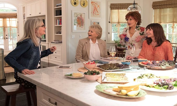 Candice Bergen, Jane Fonda, Diane Keaton, and Mary Steenburgen in BOOK CLUB