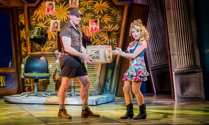 Ben Harlow as Kyle and Rita Simons as Paulette in LEGALLY BLONDE THE MUSICAL