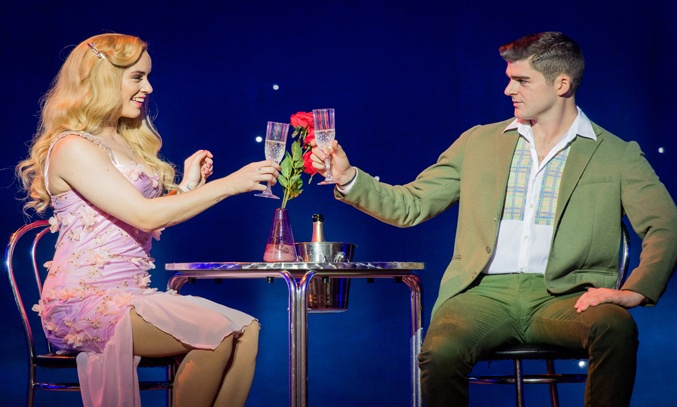 Lucie Jones as Elle and Liam Doyle as Warner in LEGALLY BLONDE.