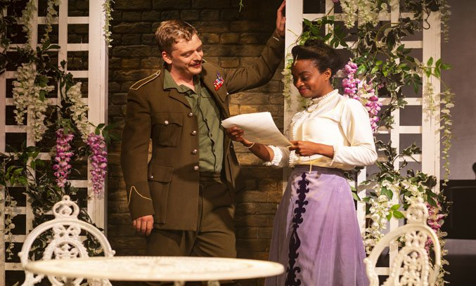 Chris Jenkins as Christopher and Esme Sears as Jenny in THE RETURN OF THE SOLDIER. Photo: Phil Tragen