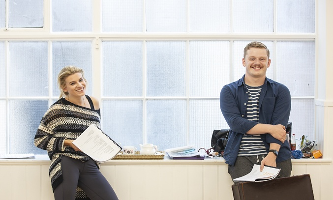 Tessa Kadler & Chris Jenkins in rehearsals for THE RETURN OF THE SOLDIER. Photo: Pamela Raith