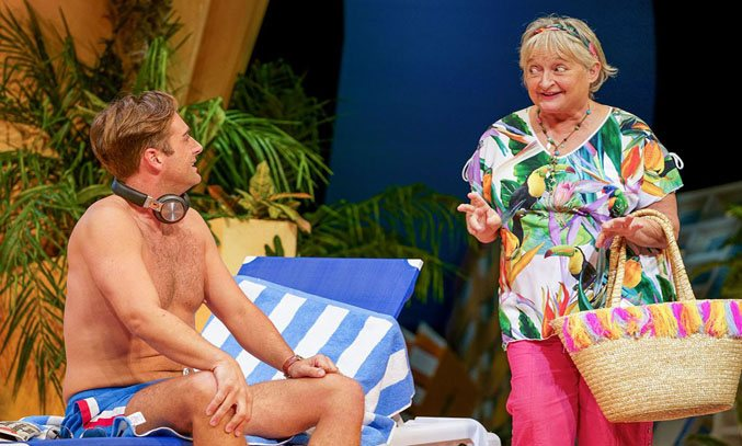 Bradley Clarkson as Ben and Janine Duvitski as Jacqueline in BENIDORM LIVE