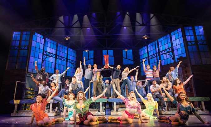 The cast of KINKY BOOTS. Photo: Helen Maybanks