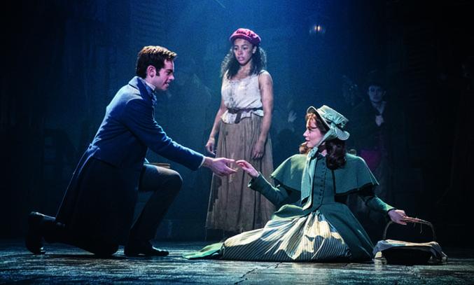 Harry Apps 'Marius', Tegan Bannister 'Eponine' & Bronwen Hanson 'Cosette' in LES MISERABLES.
