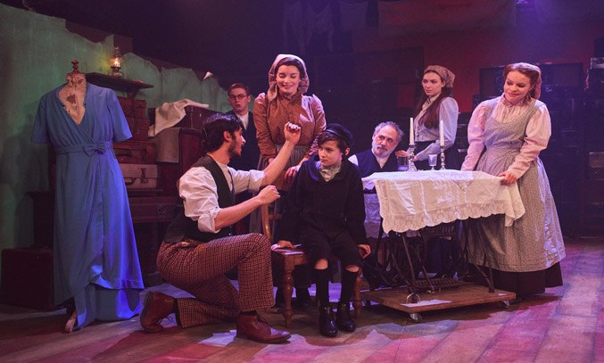Robert Tripolino as Sal, Rebecca Trehearn as Rebecca and the cast of RAGS