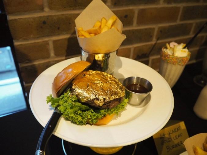 24 Karat Gold Leaf Steak Burger