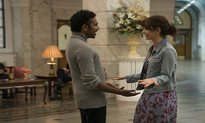 Himesh Patel and Lily James in YESTERDAY